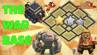 CoC Th9 War Base 2016 Anti 3 Star/Anti 2 Star+Anti Everything-Anti Gowipe,Anti Hog,Anti Goho