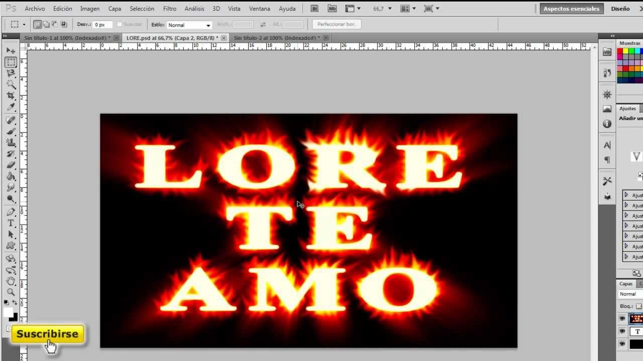 Dibujos Para Photoshop: Dibujar Corazón De Fuego
