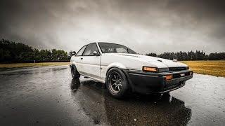 Drifting The Original Ae86 In The Rain - Tst In Nz