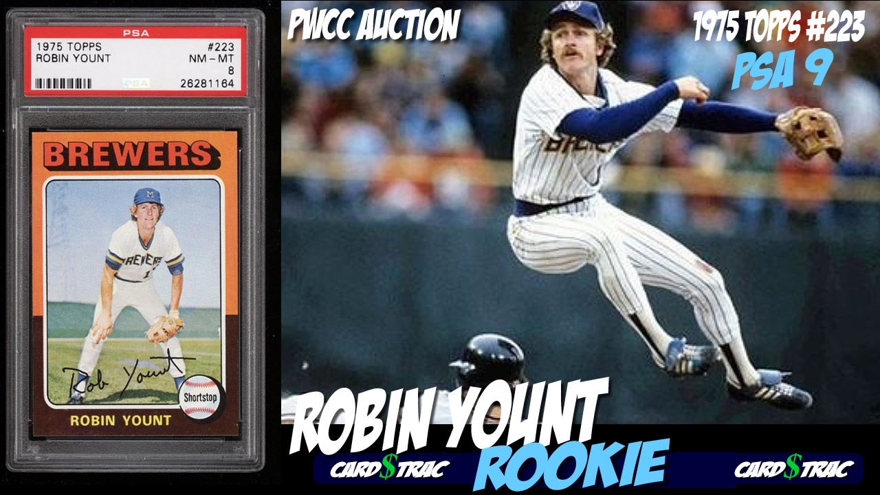 1975 Robin Yount Rookie Card Topps 223 Graded Psa 9