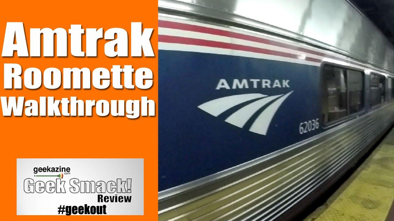 Walkthrough Amtrak Train Roomette Viewliner Sleeping Cars