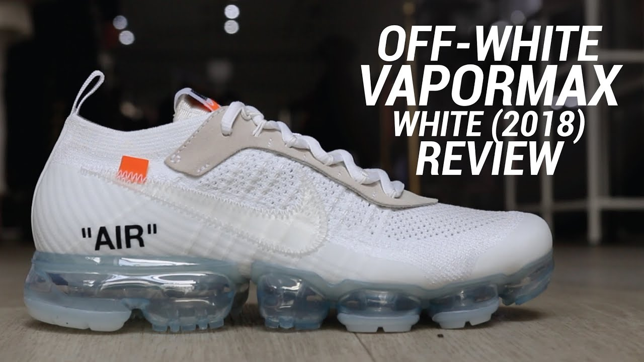 30977a19cd116 OFF WHITE NIKE VAPORMAX 2018 WHITE REVIEW - YouTube