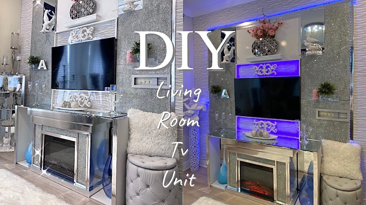 MY LIVING ROOM TV MAKEOVER| DIY HOME IMPROVEMENT