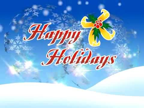 Free Happy Holidays Merry Christmas video animation - YouTube - free images happy holidays