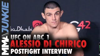 Alessio Di Chirico declines post-fight interview | UFC on ABC 1 post-fight