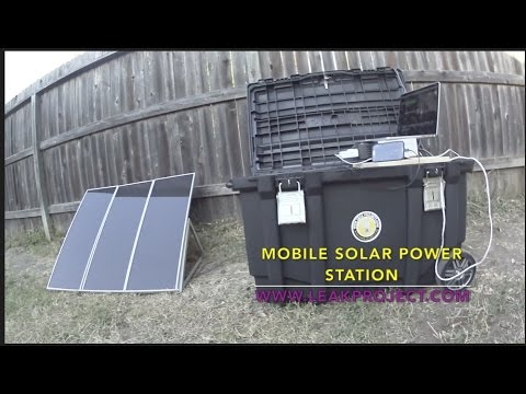 Solar Generator, DIY Portable Power Station – Easy to Setup & Powerful – Off Grid Leak Project