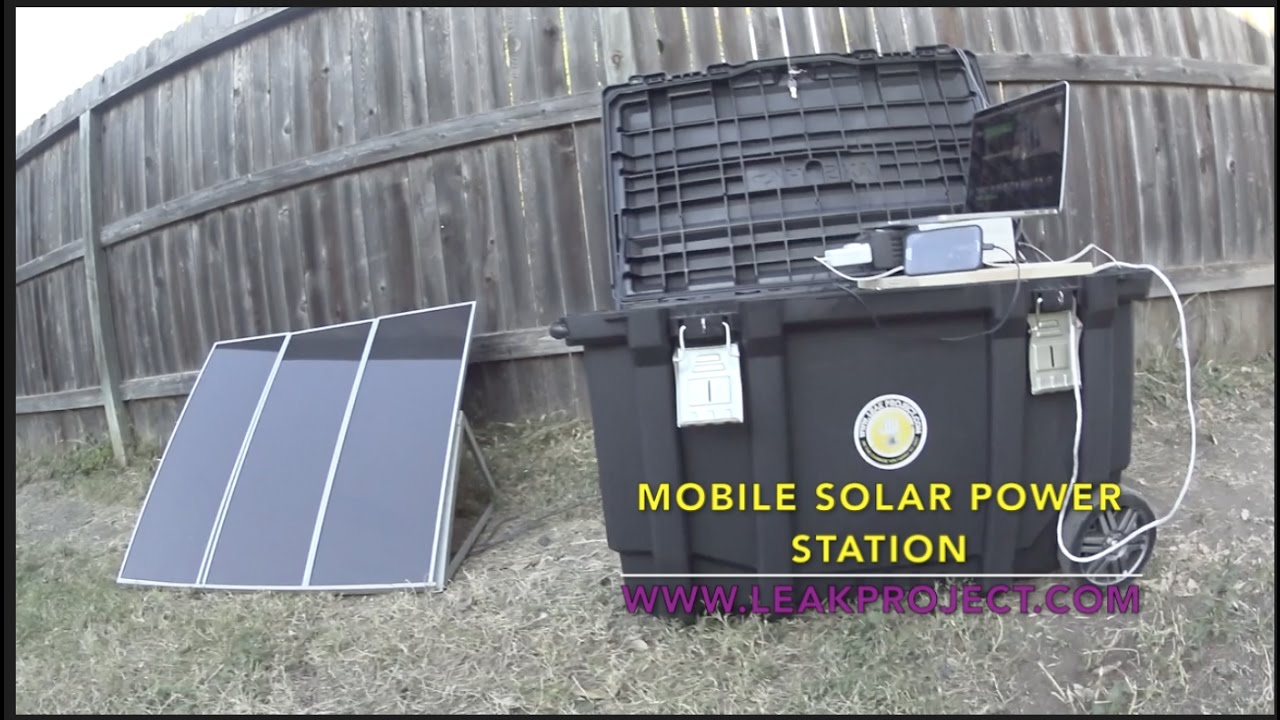 Solar Generator Diy Portable Station Easy To Setup Ful Off Grid Leak Project You