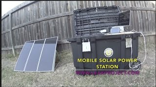 Solar Generator, DIY Portable Power Station - Easy to Setup & Powerful - Off Grid Leak Project