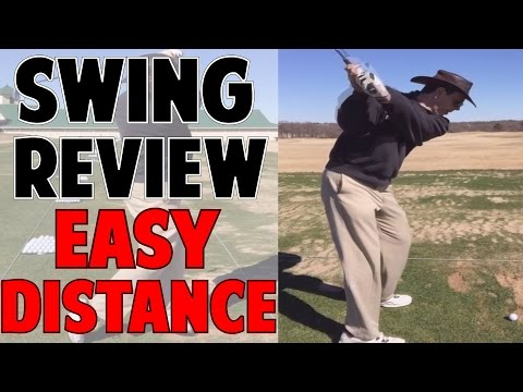 GOLF LESSON | How to Get a Slow Easy Swing w/ Big Distance!