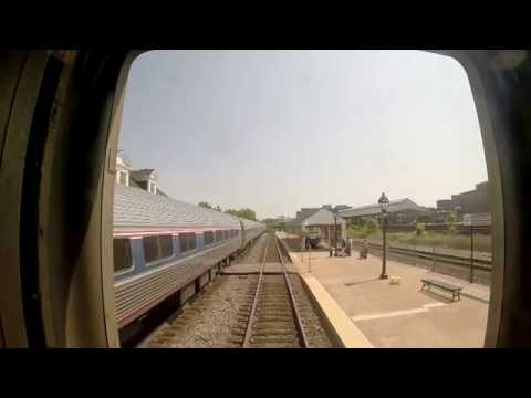 Amtrak Train 79  - Alexandria to Quantico S/B Rear View (Audio Problem)