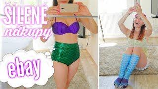 ŠÍLENÉ nákupy z EBAY!!! (nejen plavky mořské panny Ariel) | DOMI Novák thumbnail