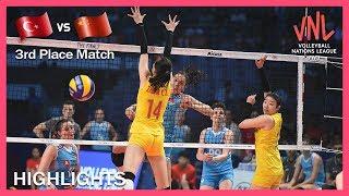 Turkey Vs China | Highlights | 07 Jul | 3rd Place Match | Women's VNL 2019