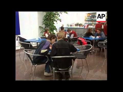 Russia - Internet Cafe in Moscow