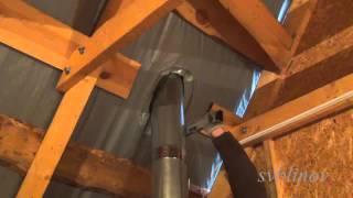 Смотреть видео течет металлическая труба на крыше