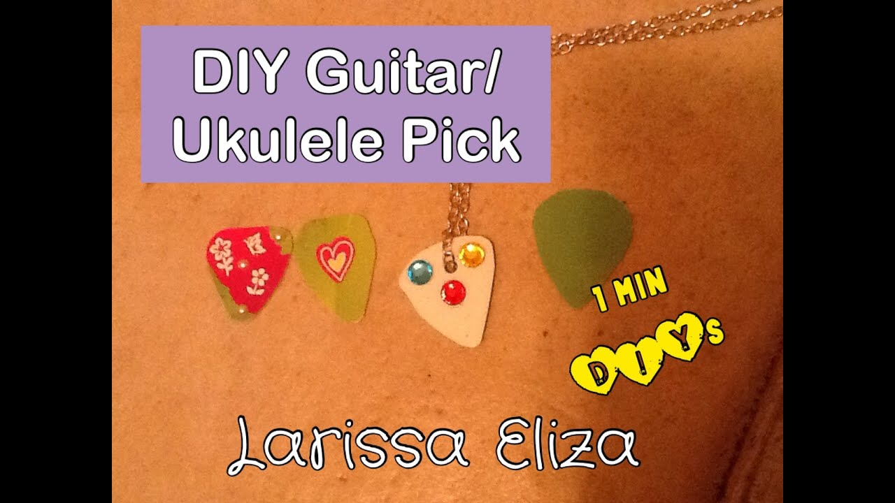 Diy guitarukulele pick youtube solutioingenieria Image collections