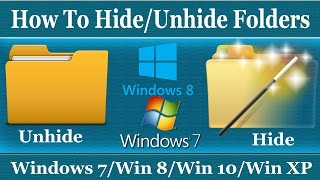 in this video i show you how to hide/unhide any folder in windows 7...