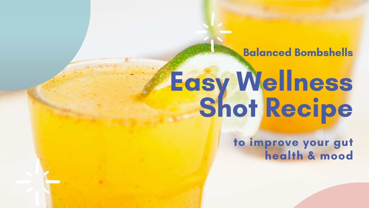 Fast & Easy Wellness Shot Recipe That'll Improve Your Gut Health | STOP Mood Swings | Cycle Syncing