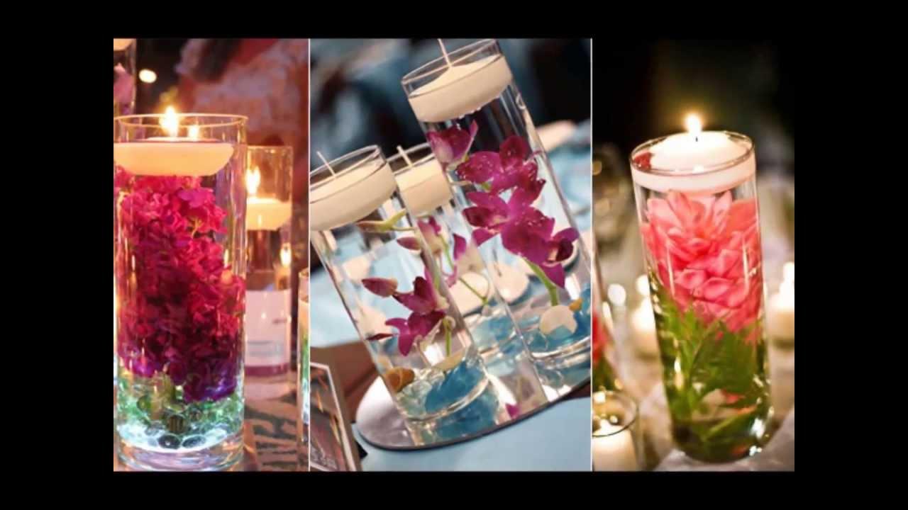 Centros de mesas con velas para casamientos youtube - Mesas de centro de cristal ...