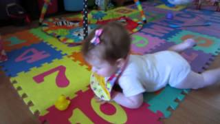 Alexandra 7 months old, commando crawling baby!