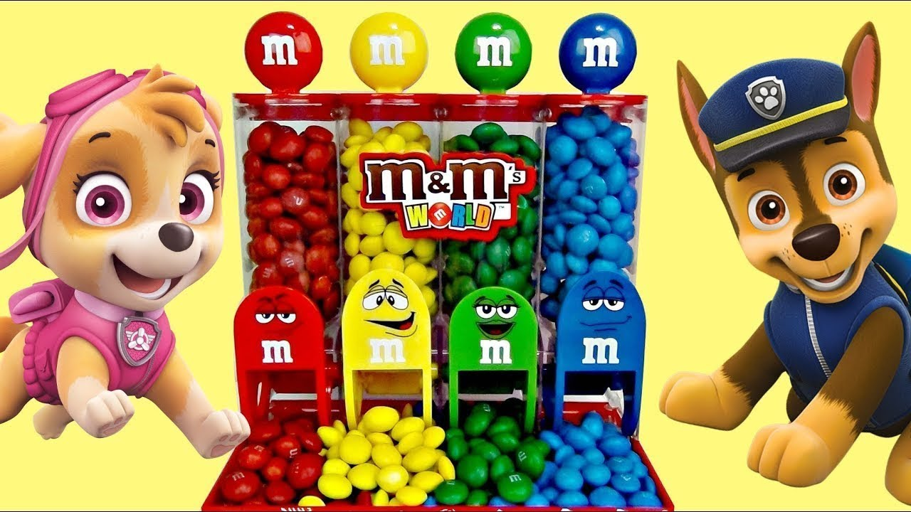 Download Discovering Paw Patrol M&M's Candy Dispenser