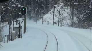 【前面展望・単線並列】秋田新幹線に走行中追い越されるも、喰らい付く! thumbnail