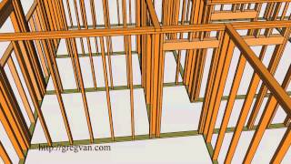 House Wall Framing – 3-d Single-story Conventional Home Framing Design