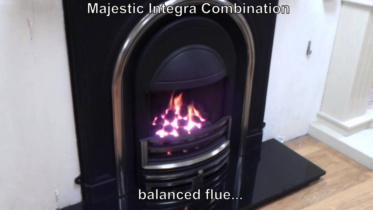 majestic integra combination by cast tec gas fire youtube