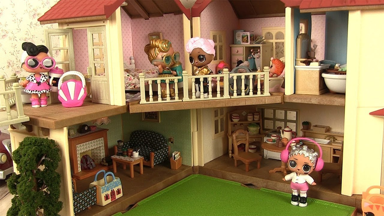 poup es lol maison de poup es cuisine sylvanian families townhome with lights youtube. Black Bedroom Furniture Sets. Home Design Ideas