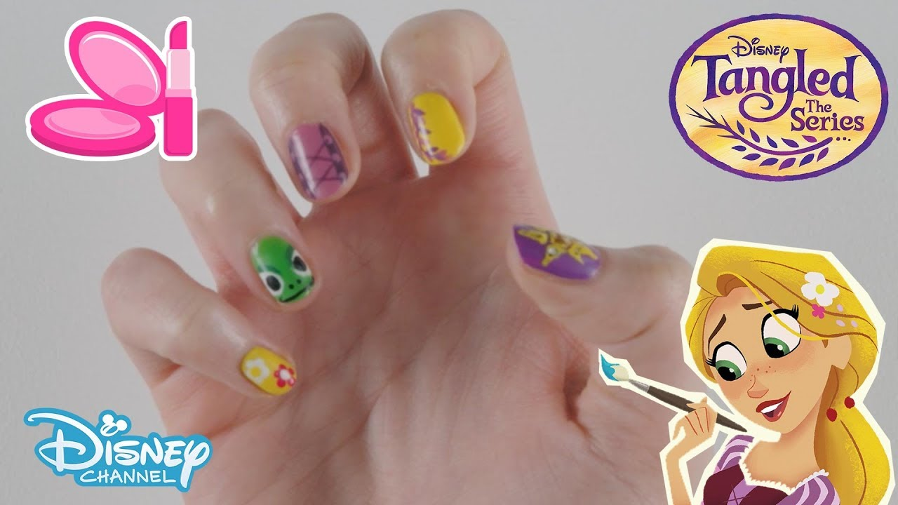 Tangled: The Series | Nail Art Tutorial | Official Disney Channel UK ...