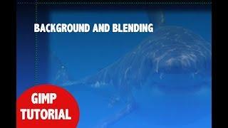 GIMP - Background and blending