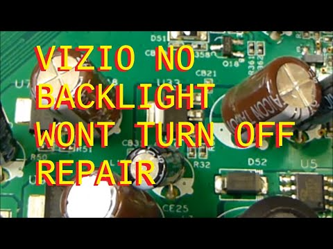 Vizio LCD Powers on with backlight, Wont power off, No