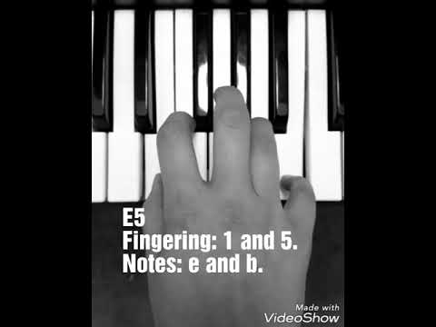 E5 Chord Lesson, Piano, Keyboard, Slideshow, Short Video - YouTube