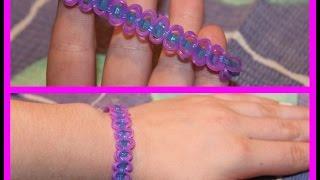 Урок плетения фенечек из резинок#3.-Круговые узелки-