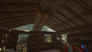 Fumbling Through Forest Custom Roof Eve Beams