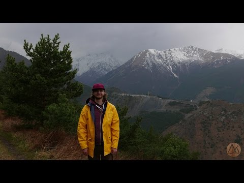 Северная Осетия. Бадское ущелье в дождь.