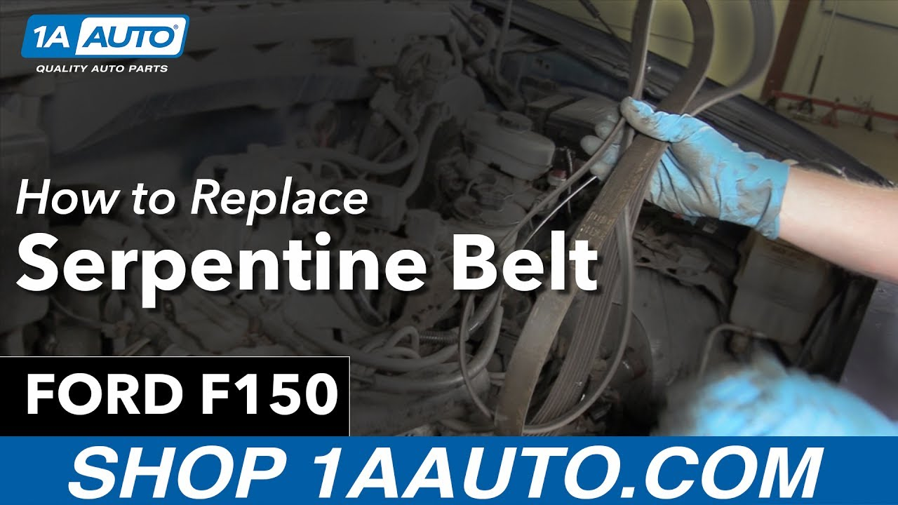 hight resolution of how to replace serpentine belt 97 04 ford f150