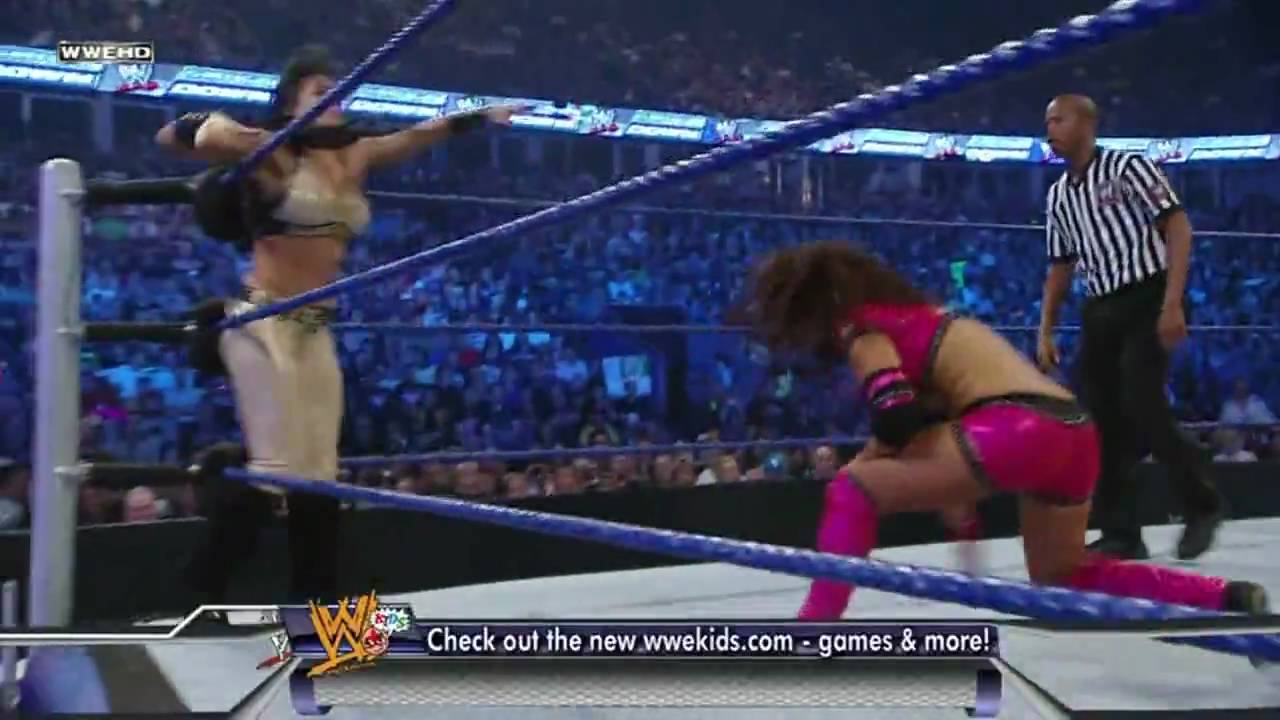 wwe smackdown melina vs layla hd youtube
