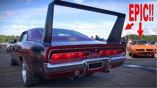 TWO MOST EXTREME MOPARS EVER!! Dodge Daytona Hemi - Plymouth Superbird   V8 Sound!  