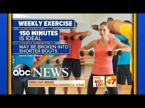Download Youtube: 'GMA' Hot List: Study reveals how many minutes of exercise you need