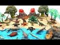 Toy Dinosaurs In Jurassic World Volcano Island Learn Dinosaur Names Dino Mini Set Fun Video