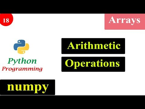 Arithmetic Operation in NumPy Arrays | Python Tutorials thumbnail