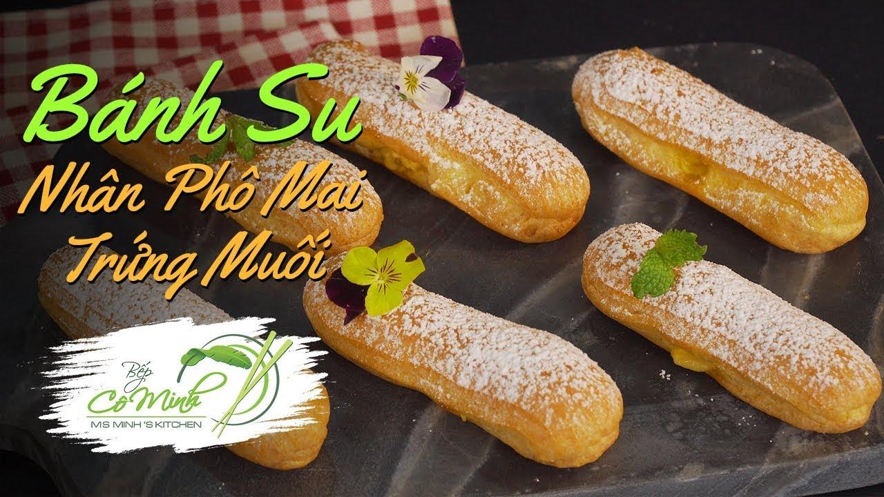 Làm Bánh Su Nhân Phô Mai Trứng Muối Thơm Ngon (Vietnamese Cream Puffs Recipe) | Bếp Cô Minh Tập 127