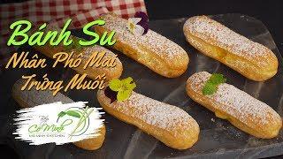Bếp Cô Minh   Tập 127: Làm Bánh Su Nhân Phô Mai Trứng Muối Thơm Ngon (Vietnamese Cream Puffs Recipe)