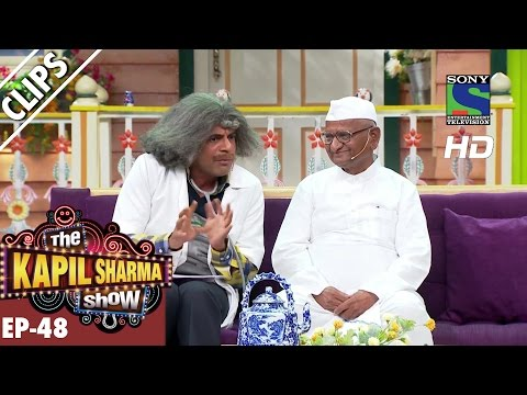 Dr Mashoor Gulati welcomes Anna Hazare -The Kapil Sharma Show-Ep.48-2nd October 2016