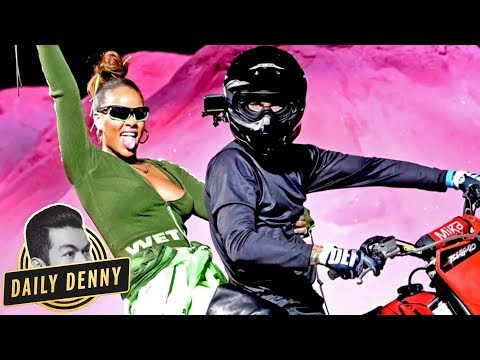 Rihanna Brings the FUN to New York Fashion Week With Motocross Stunts! | Daily Denny