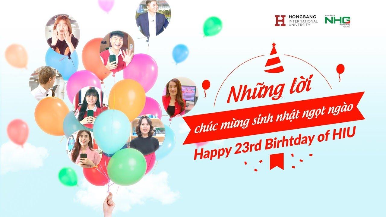 [HIU] - Lời chúc mừng 23 thành lập ĐH Quốc tế Hồng Bàng