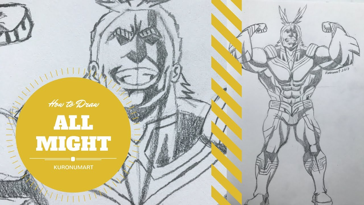 How to Draw All Might (Toshinori )