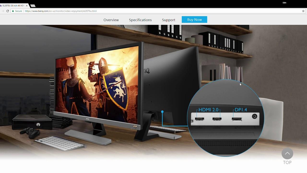 BenQ : EL2870U 28 inch 4K HDR 10 Bit Monitor : Perfect For Xbox One X & PS4  Pro & PC