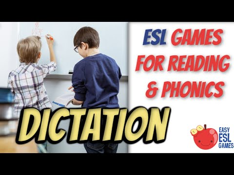 Dictation (Practice listening, writing & speaking)  Easy ESL Games Video#23