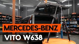 How to change gas struts / tailgate struts on MERCEDES-BENZ VITO 1 (W638) [TUTORIAL AUTODOC]